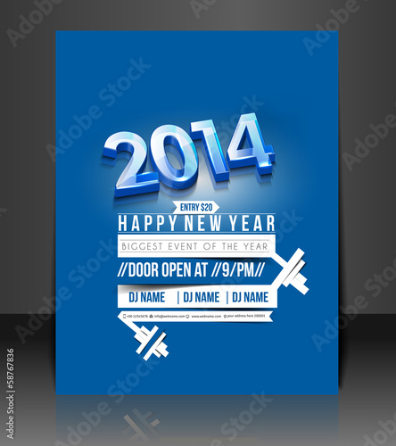 New Year Party Flyer & Poster Template