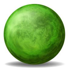 A green round ball