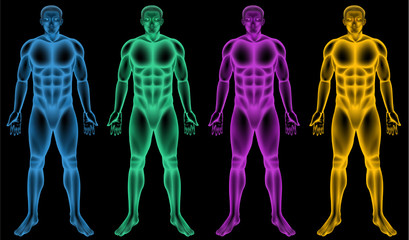 Coloured male bodies