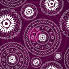 Vintage purple seamless pattern