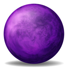 A violet ball
