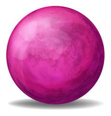 A pink ball