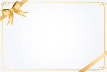 message card ribbon