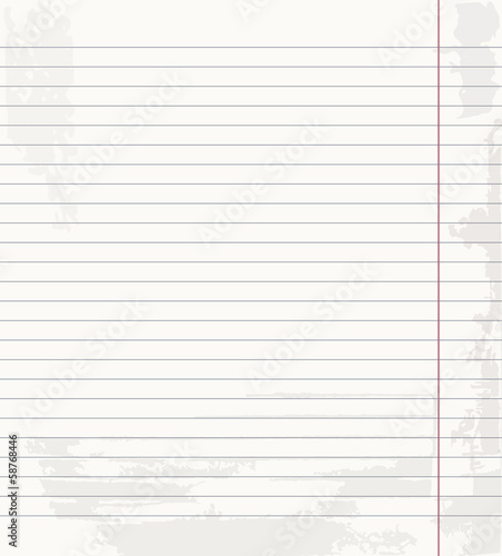 Vector school exercise book in a piece of line