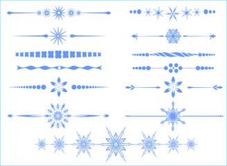 Page rule assortment with snowflakes