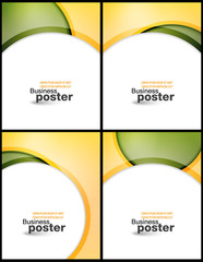 Collection Stylish presentation of business poster
