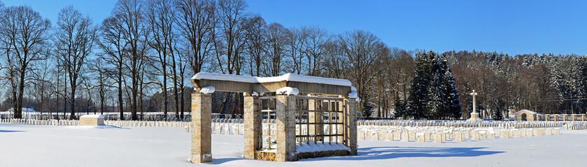 Gedenkstätte im Schnee