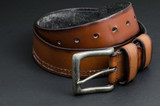 Beautiful brown leather belt