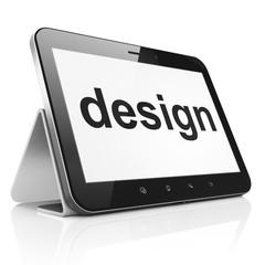 Marketing concept: Design on tablet pc computer