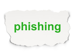 Security concept: Phishing on Paper background