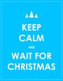 keep calm modern christmas background poster