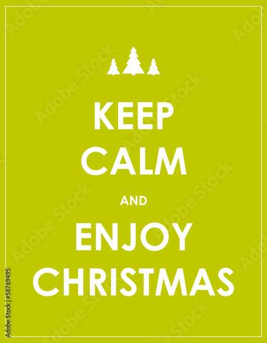 keep calm modern christmas background Plakát