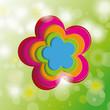 Easter Card Background Cherr Tree Flowers