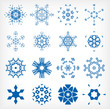 Set of isolated snowflakes for Christmas decor