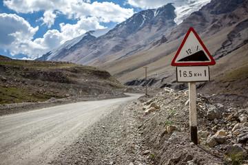 Gradient road sign