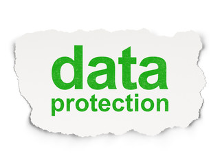 Privacy concept: Data Protection on Paper background