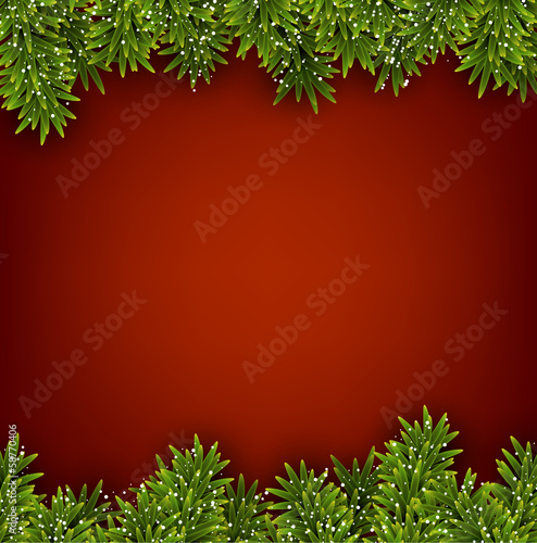 Fir red christmas frame.
