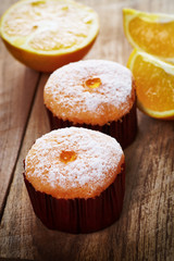 Orange and fruit cakes