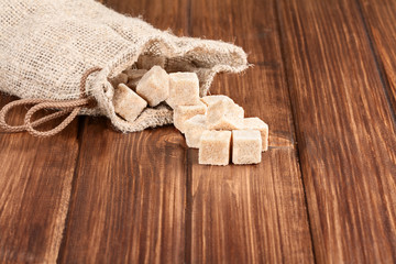 brown sugar on a old wooden table