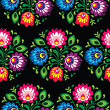 Seamless traditional floral polish pattern - ethnic background - 58771299