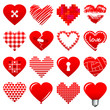 Set Red Hearts