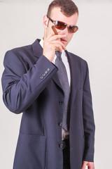Höflicher erfolgreicher Geschäftsmann oder CEO