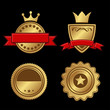 Set of Gold Badges Vintage Award