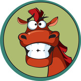 Cartoon horse with a brilliant smile