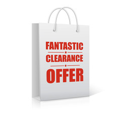 Fantastic clearance offer, shopping bag,