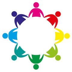 réunion, symbole logo