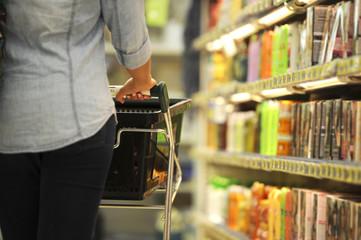 Women, Shopping, Supermarket, Shopping Cart, Retail, Grocery Pro