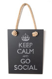 Keep calm and go social poster