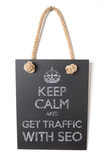Keep calm and get traffic with SEO poster