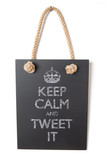 Keep calm and tweet it poster