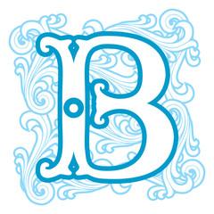 winter vintage letter B