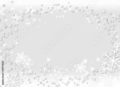 canvas print picture Weihnachten Hintergrund Schnee Flocken Glitzer