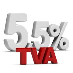 TVA Taux Réduit 5,5 Pourcent - T V A 5,5%