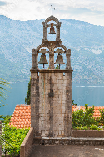 Bell tower of Orthodox Monastery Banja. Risan, Montenegro
