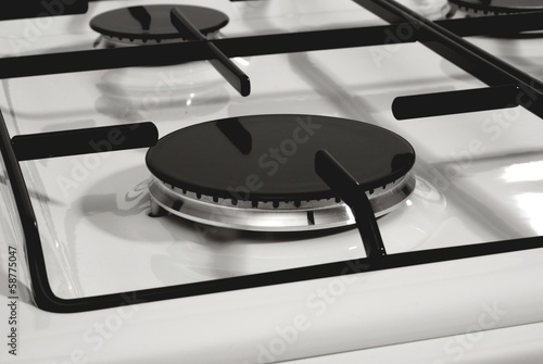 Gas burner without flame