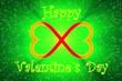 Leinwandbild Motiv Valentines Day Card