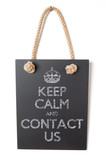 Keep calm and contact us poster