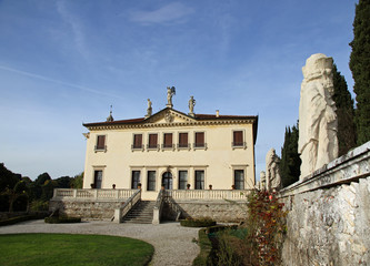 garden of the famous Venetian Villa Valmarana ai nani in the cit