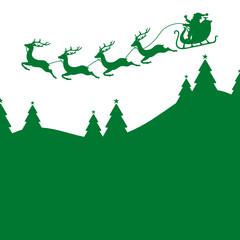 Christmas Sleigh Green