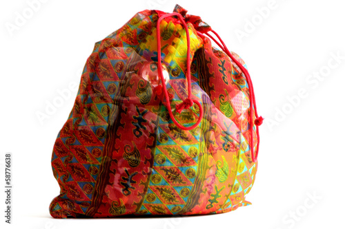 sack with gifts for the New Year
