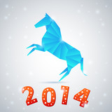 New year 2014 celebration card