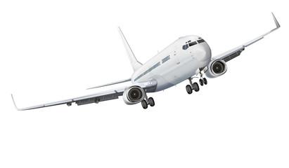 Passagierflugzeug freigestellt weiß