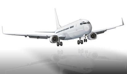 Passagierflugzeug bei der Landung