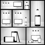 Modern devices mockups poster