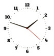 Round office clock - 58777673