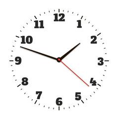 Round office clock